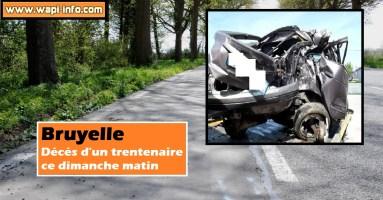 Bruyelle : accident mortel à la chaussée de Tournai ce dimanche matin