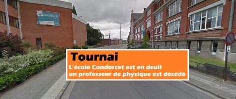 Tournai : l'école Condorcet est en deuil - un professeur de physique est décédé