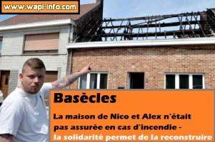 Basècles : élan de solidarité pour reconstruire une maison incendiée