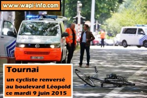Tournai : un cycliste renversé au boulevard Léopold - second accident à cet endroit en deux jours