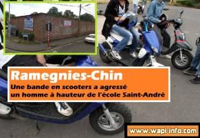 Ramegnies-Chin : une bande en scooters agresse un homme en face d'une école