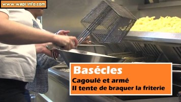 Basécles : cagoulé et armé - il tente de braquer la friterie
