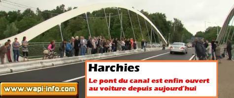 Harchies : le pont du canal est enfin ouvert aux voitures depuis aujourd'hui