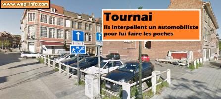 Tournai : ils interpellent un automobiliste avant de le dépouiller