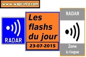 Radars mobiles de ce jeudi 23 juillet 2015