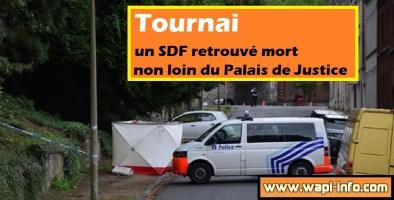 Tournai : un SDF retrouvé mort au centre ville