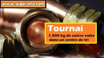 Tournai : 1.500 kg de cuivre volés dans un centre de tri