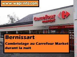 Bernissart : cambriolage au Carrefour Market durant la nuit