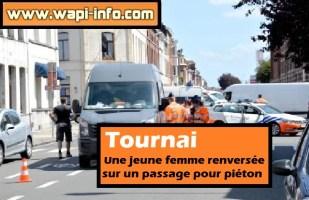 Tournai : une jeune femme renversée sur un passage pour piéton