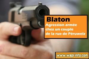 Blaton : agression armée chez un couple de la rue de Péruwelz