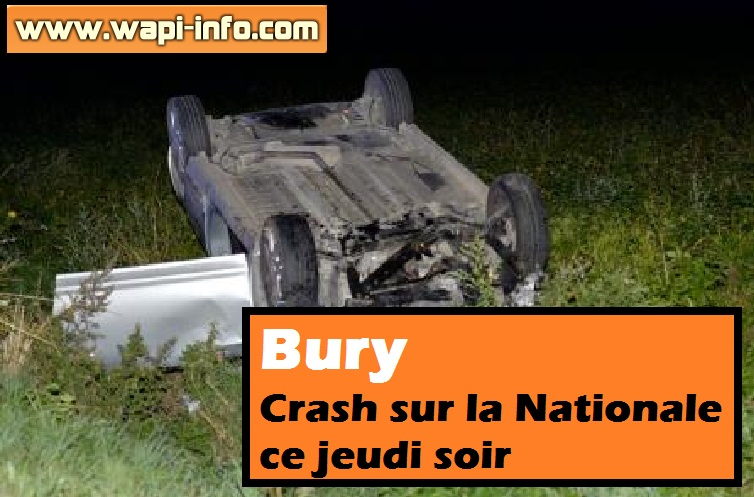 bury accident nationale 20 aout 2015