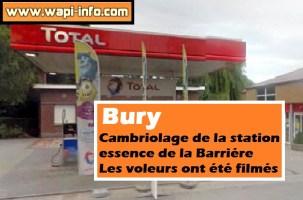Bury : cambriolage de station essence de la Barrière - les voleurs ont été filmés