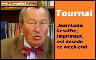 Tournai : Jean-Louis Lesaffre, imprimeur, est décédé ce week-end