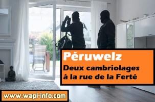 Péruwelz : deux cambriolages à la rue de la Ferté