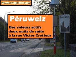 Péruwelz : des voleurs actifs deux nuits de suite à la rue Victor Cretteur