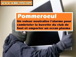 Pommeroeul : un voleur neutralise l'alarme pour cambrioler la buvette du club de foot