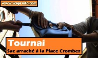 Tournai : sac arraché à la Place Crombez