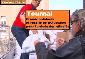 Tournai : grande solidarité et récolte de chaussures pour l'arrivée des réfugiés