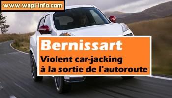 Bernissart : violent car-jacking à la sortie de l'autoroute