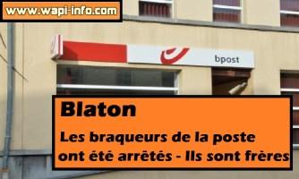 Blaton : les braqueurs de la poste ont été arrêtés - ils sont frères