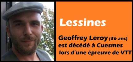Lessines : Geoffrey Leroy (36 ans) est décédé à Cuesmes lors d'une épreuve en VTT