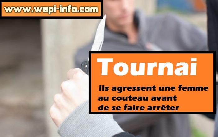 Tournai agression couteau