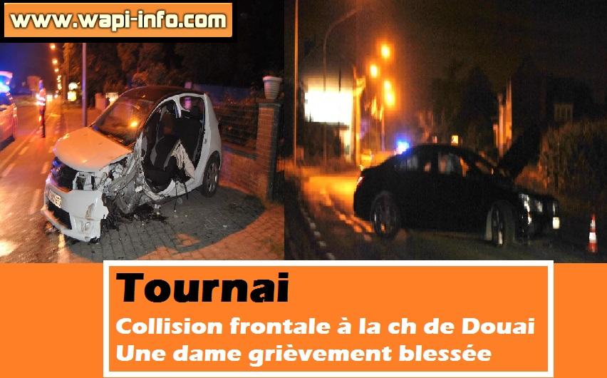 Tournai collision frontale