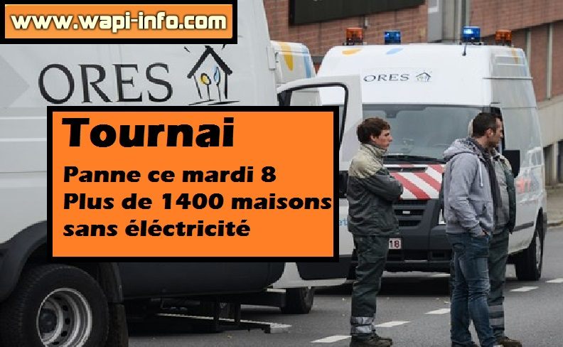 Tournai panne electricite