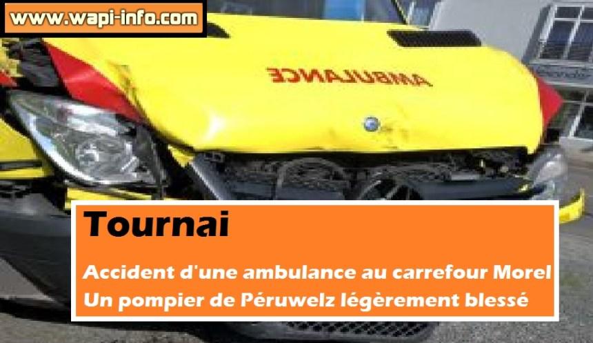 ambulance pompier peruwelz accident