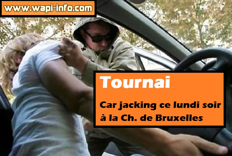 car jacking tournai