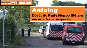 Antoing : décès de Rudy Noppe (36 ans) aucune trace suspecte