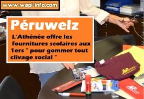 """Péruwelz : l'Athénée offre les fournitures scolaires aux 1ers """"pour gommer tout clivage social"""""""