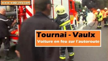 Vaulx : voiture en feu sur l'autoroute (+ photos)