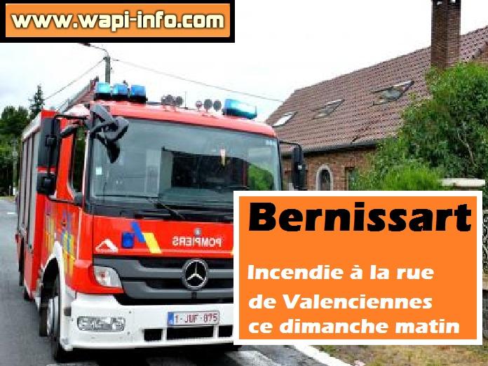 Bernissart incendie
