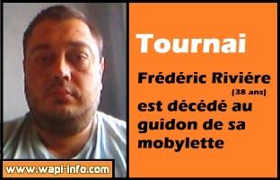Tournai : Frédéric Riviére (38 ans) est décédé au guidon de sa mobylette