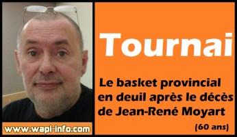 Tournai : le basket provincial en deuil après le décès de Jean-René Moyart (60 ans)