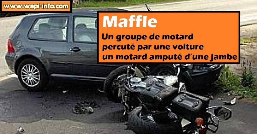 Maffle motard ampute
