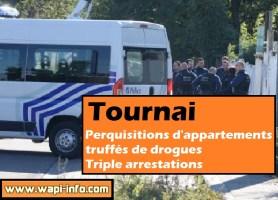Tournai : perquisitions au centre ville d'appartements truffés de drogue - triple arrestations