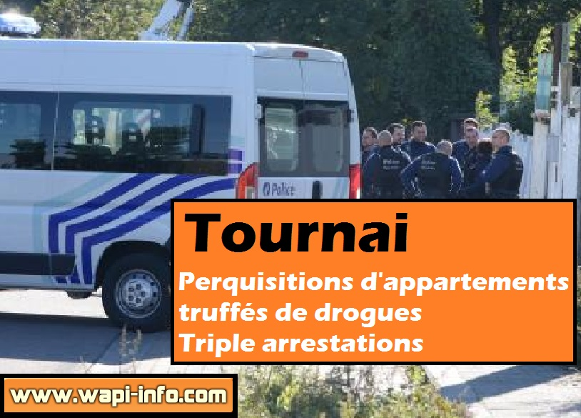 Tournai perquisitions drogue
