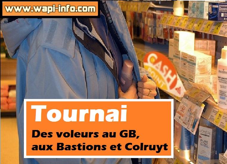 Tournai voleurs magasins