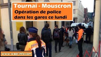 Tournai - Mouscron : opération de police dans les gares