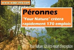 """Péronnes : """"Your Nature"""" créera rapidement 170 emplois"""