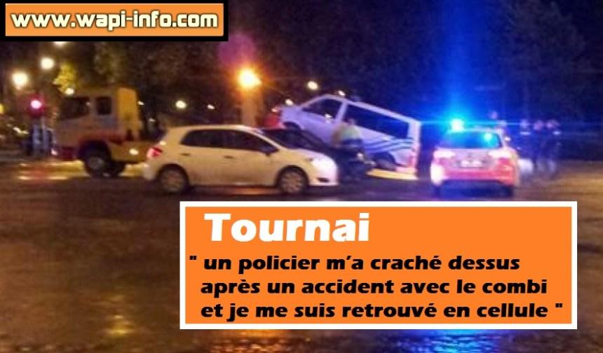 Tournai policiers accident