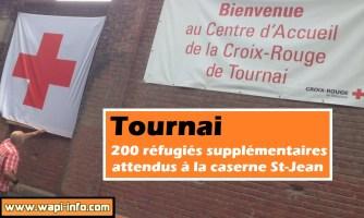 Tournai : 200 réfugiés supplémentaires attendus à la caserne St-Jean