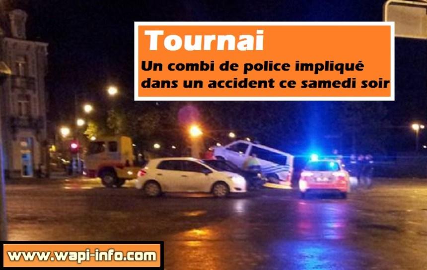 accident combi police tournai
