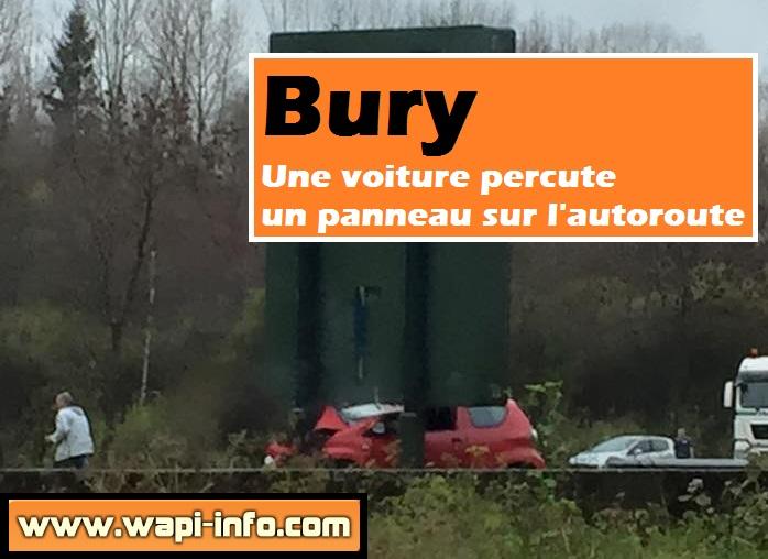 bury panneau autoroute