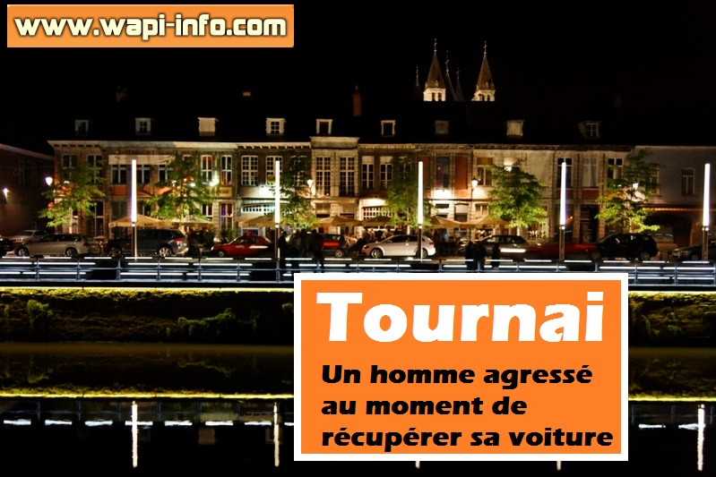 tournai un homme agresse