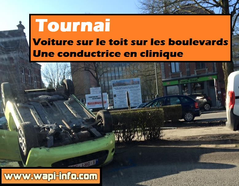 Accident boulevard roi albert tournai