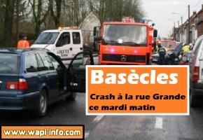 Basècles : crash à la rue Grande ce mardi matin
