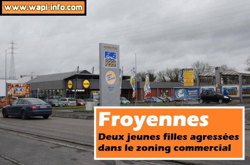 Froyennes agression zoning commercial